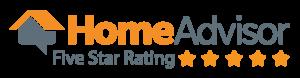 HomeAdvisor Five Star Rating